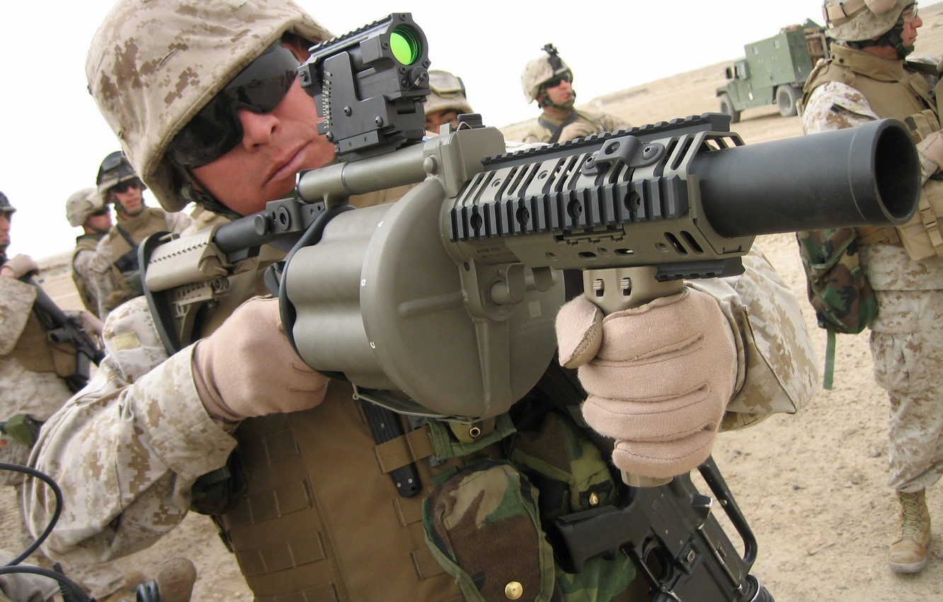 Photo wallpaper pistol, soldier, military, man, sand, M4A1, South Africa, M16, rifle, knife, vehicle, sunglasses, pearls, uniform, …