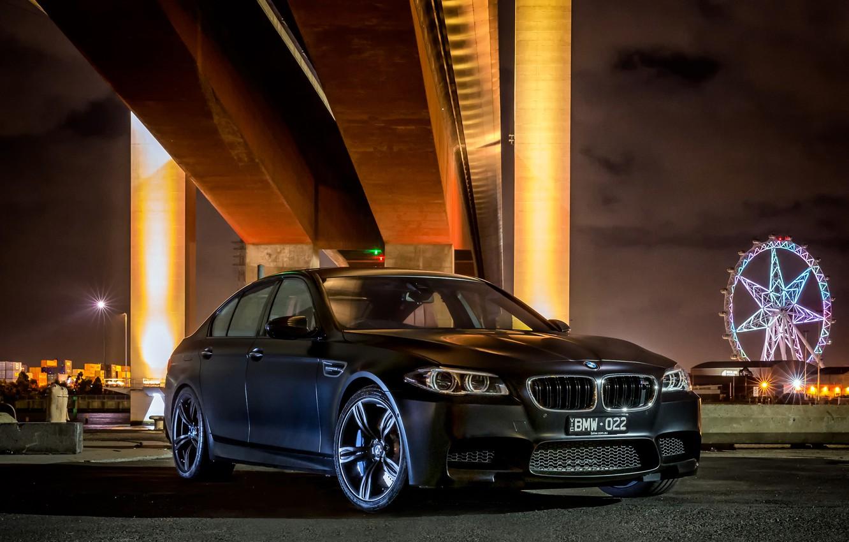 Photo wallpaper black, BMW, BMW, Sedan, 2015