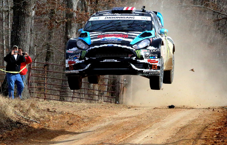 Photo wallpaper Ford, Race, Ken Block, Rally, Fiesta, 2014, Woods, 100 Acre