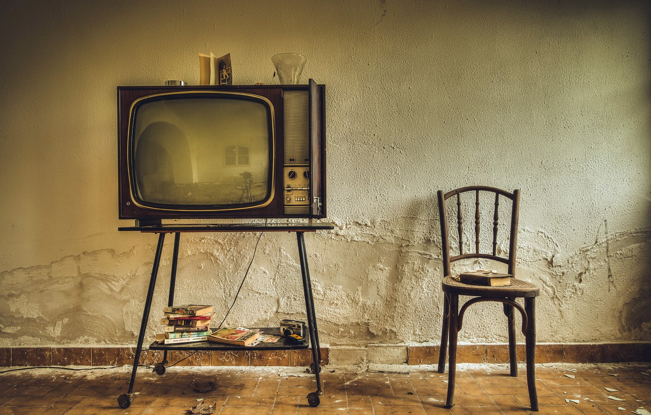 Photo wallpaper background, TV, chair