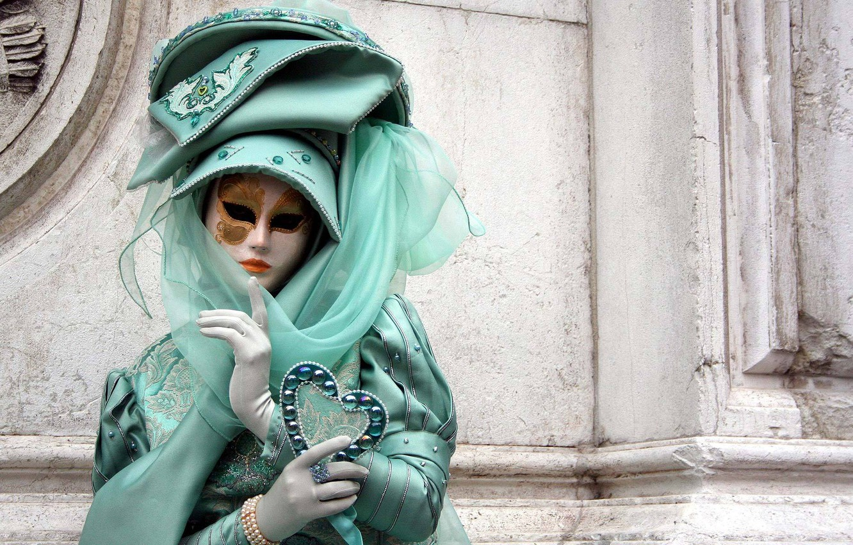 Photo wallpaper girl, the city, mystery, mask, costume, Venice, ball, masquerade