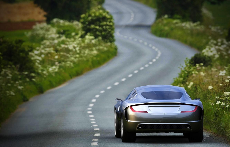 Photo wallpaper Aston Martin, Auto, Road, The concept, Gauntlet, Aston Martin, Serey