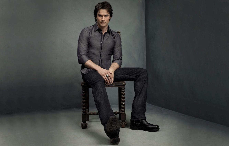 Photo wallpaper room, chair, shoes, angle, the vampire diaries, ian somerhalder, the vampire diaries, Ian somerhalder