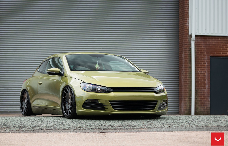 Photo wallpaper Volkswagen, and, Scirocco, CVT, Vossen, Wheels, VLE-1