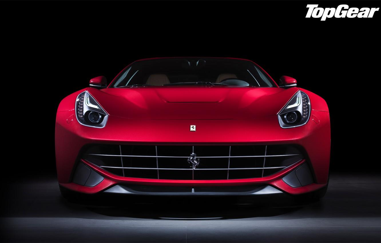 Photo wallpaper red, Ferrari, Top Gear, Ferrari, supercar, twilight, the front, the best TV show, top gear, …