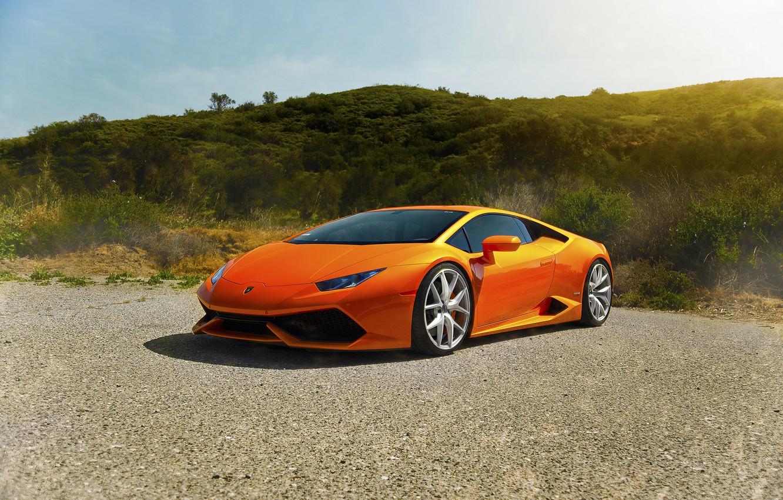 Photo wallpaper Lamborghini, Orange, Front, Sun, Diamond, Supercars, Edition, Exotic, Huracan, LP640-4