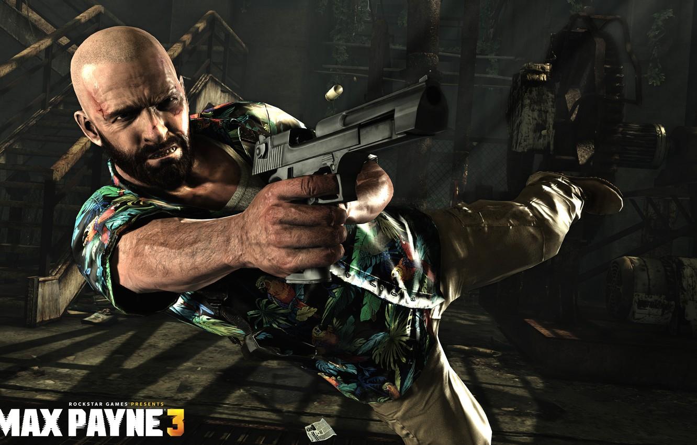 Wallpaper Flight Gun Shooting Game Rockstar Games Max Payne 3