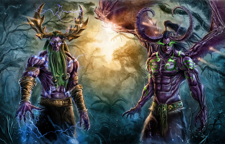 Wallpaper Demon World Of Warcraft Blizzard Night Elf Illidan