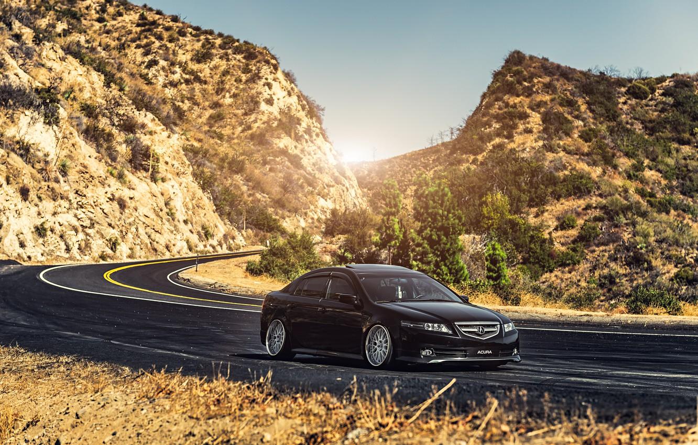 Photo wallpaper road, honda, Honda, accord, chord, acura, Acura, tsx