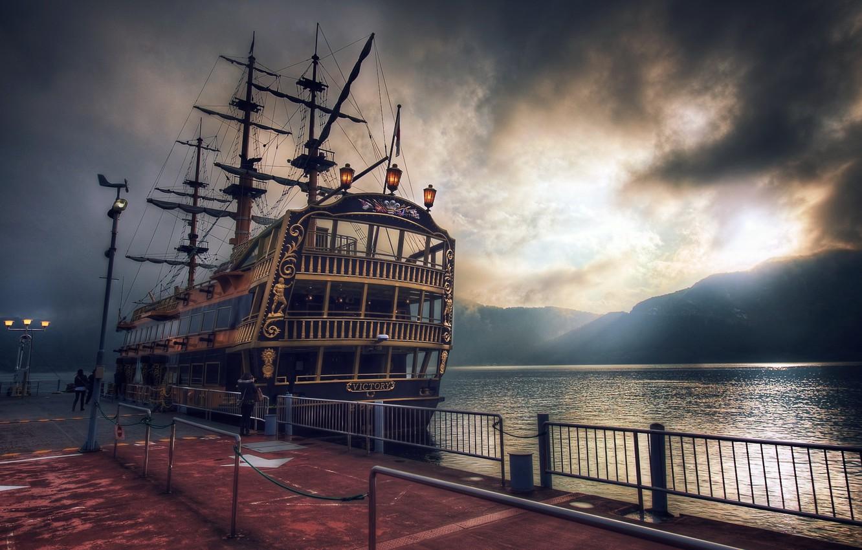 Photo wallpaper sea, water, style, ship, Tokyo, japan, victory