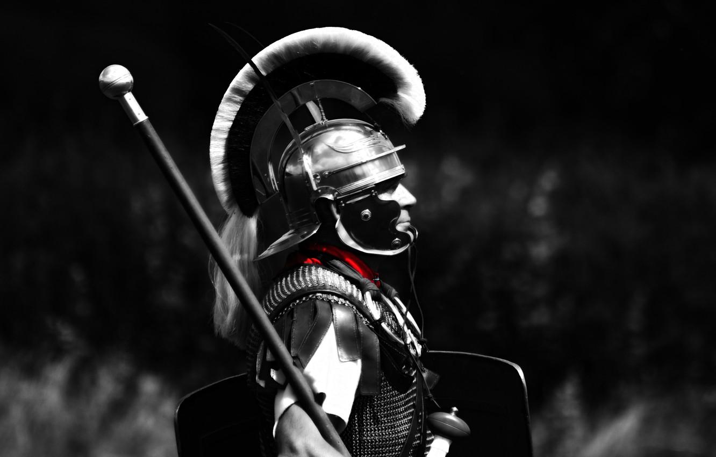 Photo wallpaper background, armor, Rome, helmet, male, Centurion, Legionnaire