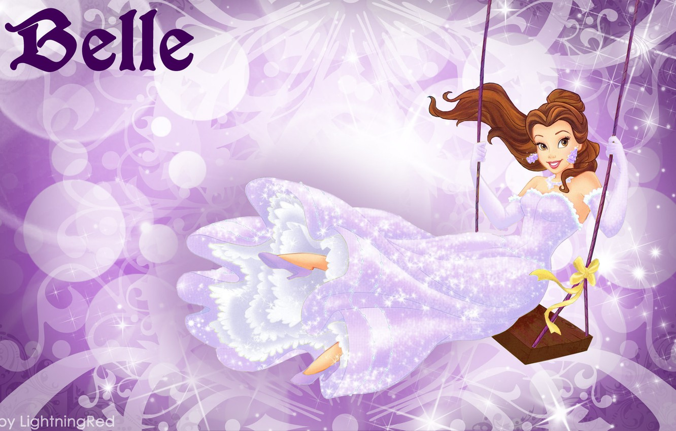 Wallpaper Swing Cartoon Disney Disney Belle Beauty And The