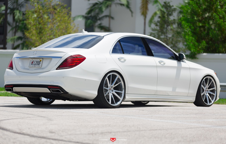 Photo wallpaper machine, auto, Mercedes, Mercedes, Benz, wheels, drives, auto, feed, Vossen Wheels
