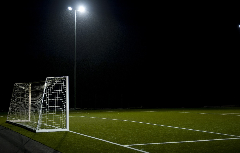 Photo wallpaper field, football, sport, gate