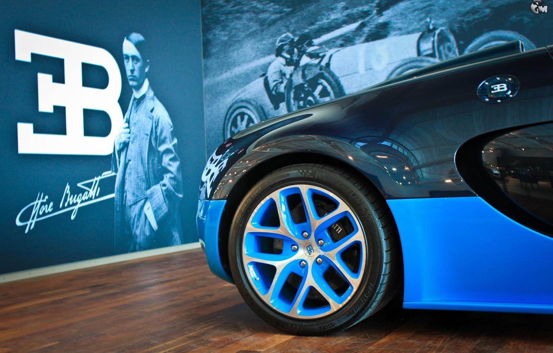 Photo wallpaper Bugatti, Veyron, Ettore Bugatti, Grand Sport Vitesse, Ettore Arco Isidoro Bugatti, The Founder Of Bugatti