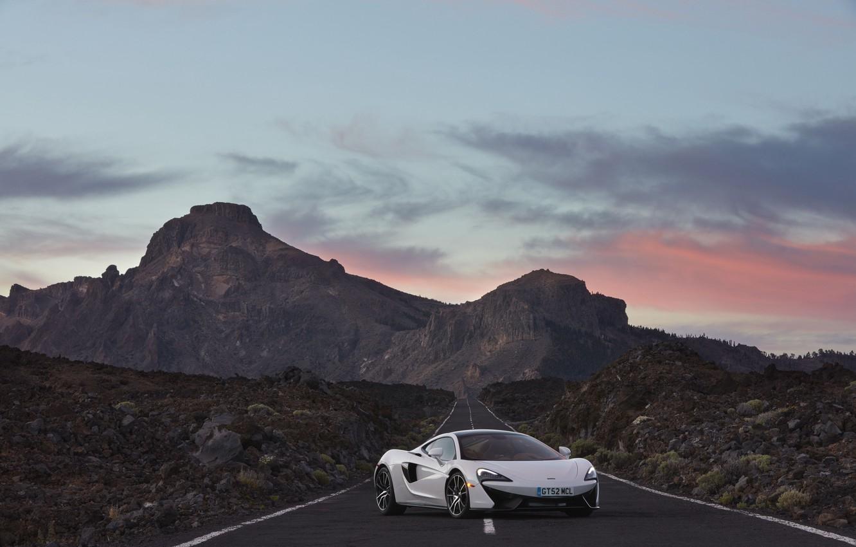 Photo wallpaper road, the sky, McLaren, supercar, car, beautiful, McLaren, 570GT