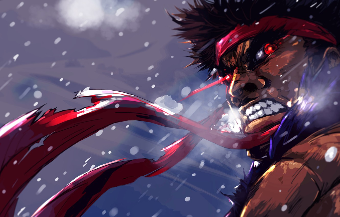 Wallpaper Art Rage Guy Red Eyes Street Fighter Ibroid Evil Ryu Images For Desktop Section Igry Download