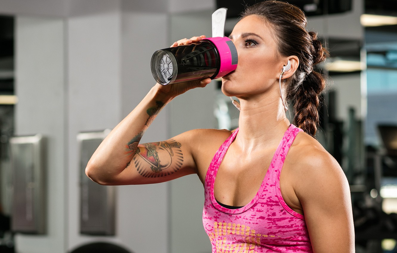 Wallpaper music, tattoos, female, workout, fitness, gym, training