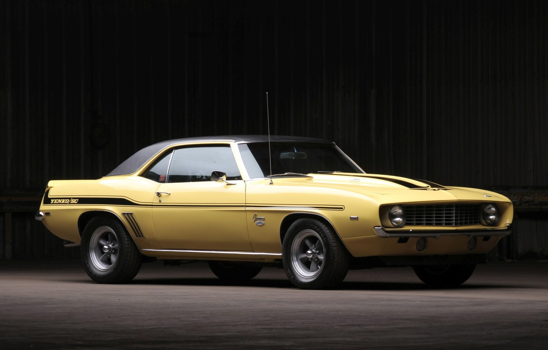 Photo wallpaper background, Chevrolet, 1969, Camaro, Chevrolet, Camaro, the front, Muscle car, 427, Yenko, Muscle car