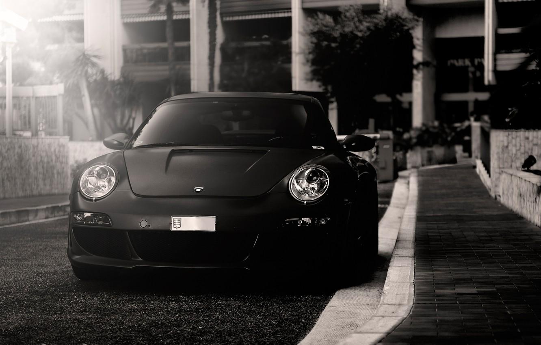 Photo wallpaper b/W, Porsche, autowalls, porsche 911