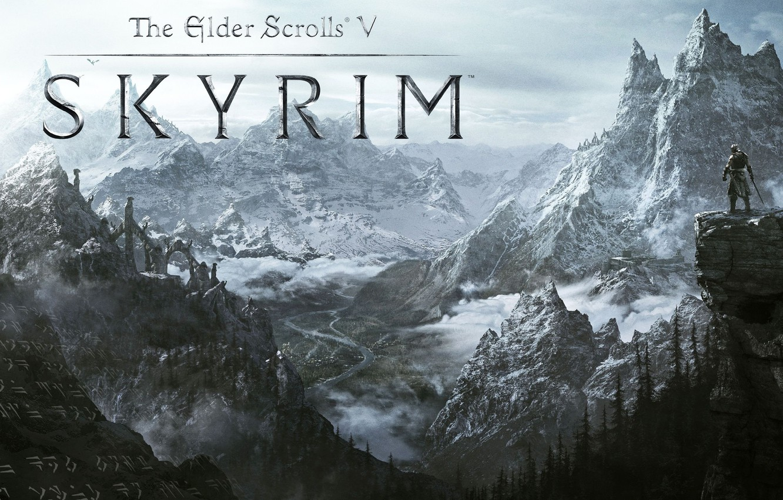 Photo wallpaper snow, mountains, valley, the elder scrolls, skyrim, Skyrim, duvakin