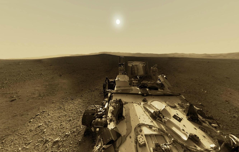 Photo wallpaper NASA, Sun, Mars, Curiosity