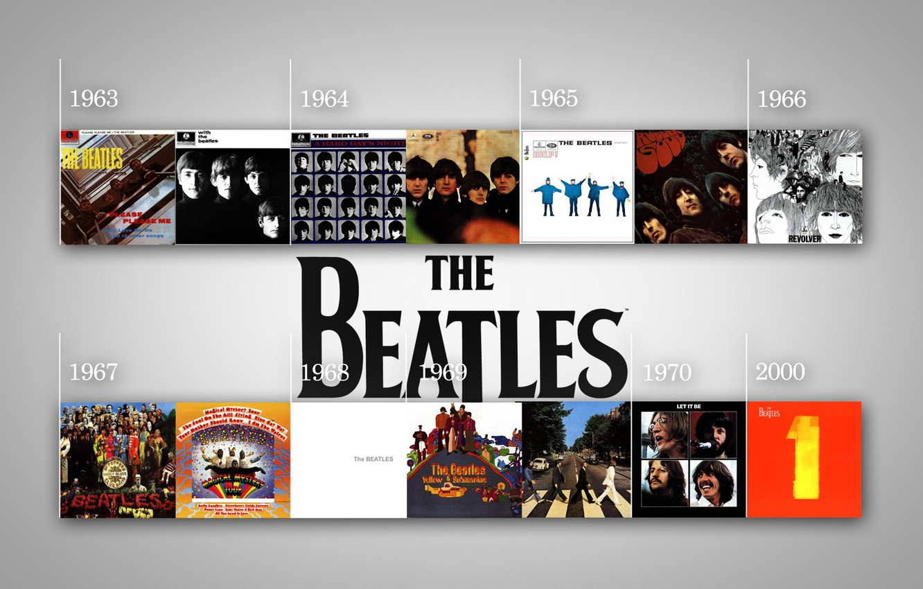 Photo wallpaper The Beatles, The Beatles, cover, albums