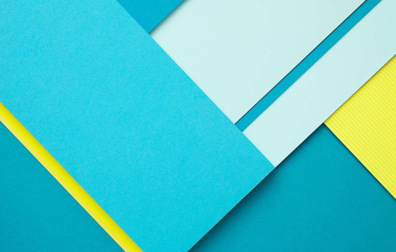 Photo wallpaper Blue, Design, Line, Wallpaper, Yellow, Lollipop, Material, Android 5.0, Rectangle