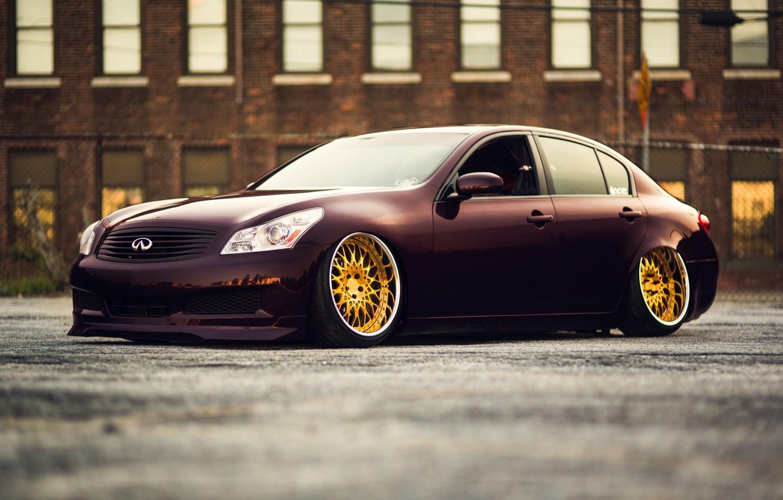 Photo wallpaper car, auto, tuning, infiniti, stance, canibeat, infiniti G35x