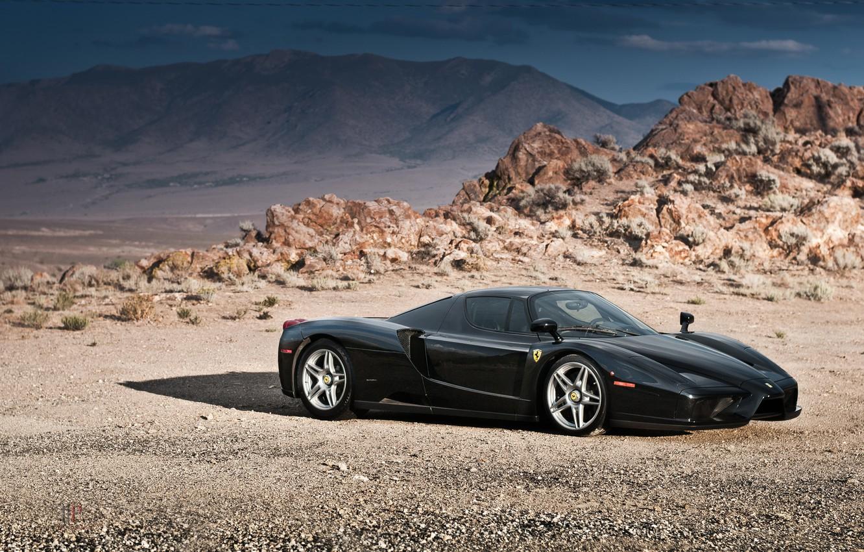 Photo wallpaper Ferrari, Enzo, Black, Supercar