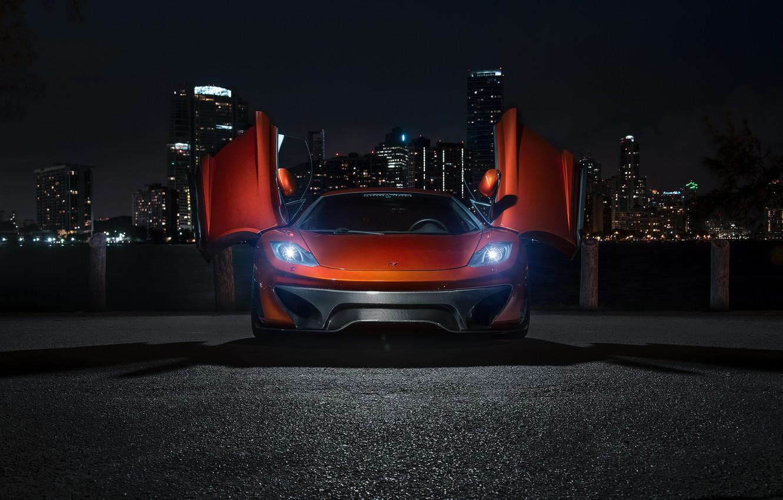 Photo wallpaper night, supercar, Vorsteiner, tuning, rechange, McLaren, MP4-12c, McLaren MP4-VX