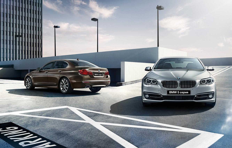 Photo wallpaper BMW, BMW, sedan, 5 series, F10, Sedan, 2015