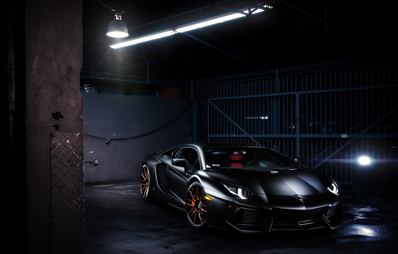 Photo wallpaper glare, lamp, Lamborghini, Lamborghini, black, black, Lamborghini, LP700-4, Aventador, Aventador, LB834
