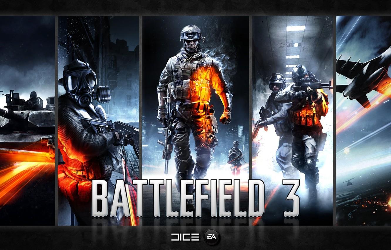 Photo wallpaper Games, Battlefield 3, Battlefield 3 PC