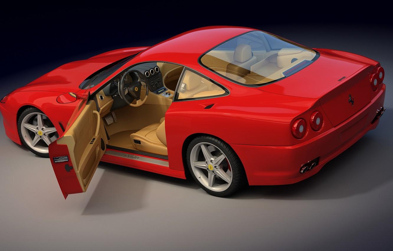Photo wallpaper Ferrari, open, door