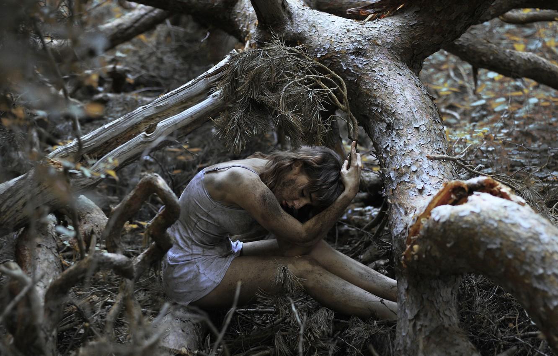 Photo wallpaper forest, girl, tree, dirt, bokeh, The Spriggan-2