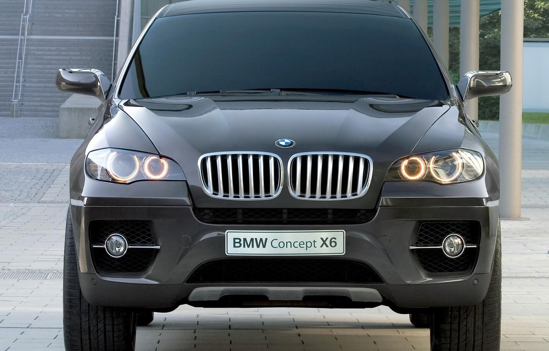 Photo wallpaper concept, BMW, black, zatonirovany