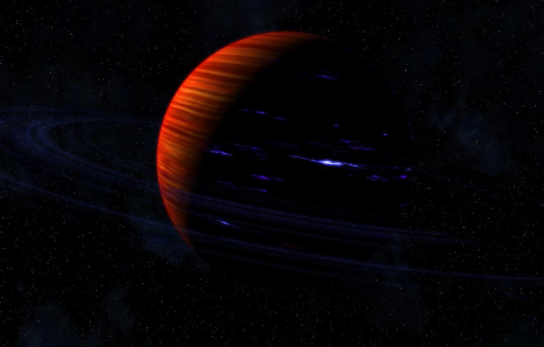 Photo wallpaper stars, planet, ring, Saturn