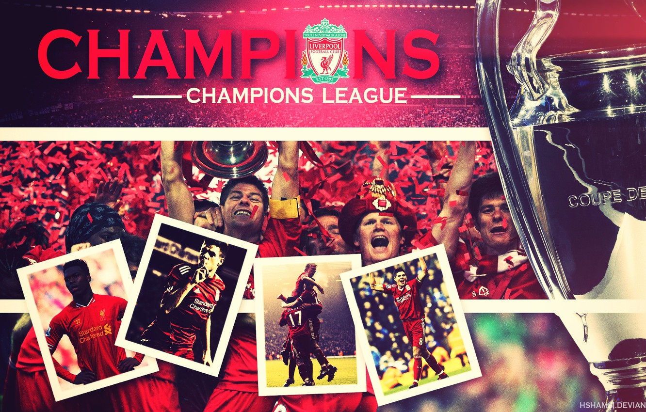 Photo wallpaper Sport, stadium, Cup, players, Champions League, Liverpool, Liverpool, Champions