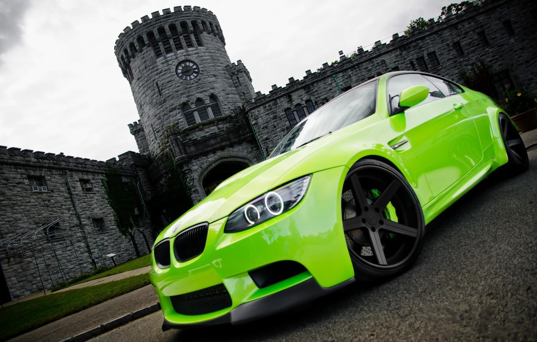 Photo wallpaper green, photo, Wallpaper, cars, auto, wallpapers, BMW M3