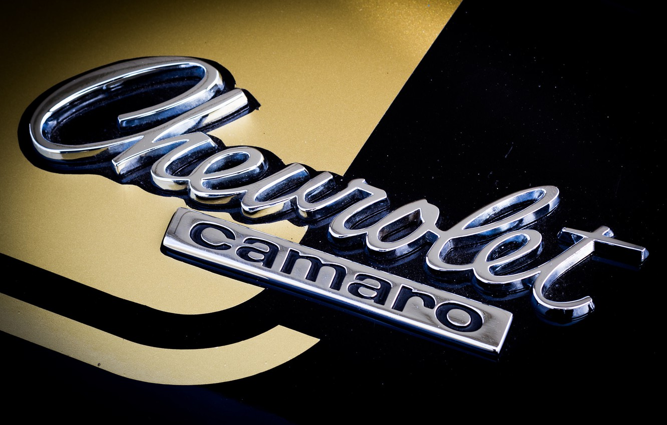 Photo wallpaper Chevrolet, Camaro, emblem