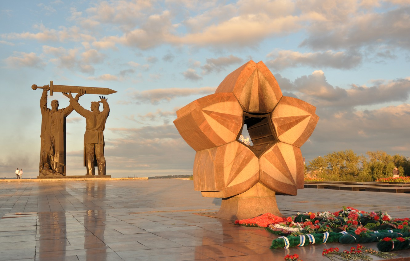Photo wallpaper memory, war, monument, eternal flame, the city of Magnitogorsk, the rear of the front