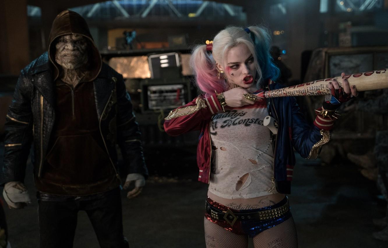 Photo wallpaper Harley Quinn, DC Comics, Harley Quinn, Killer Croc, Killer CROC, Suicide Squad, Suicide Squad