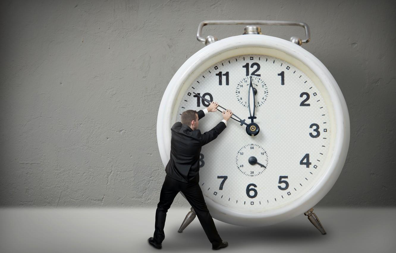 Photo wallpaper time, watch, alarm clock, male