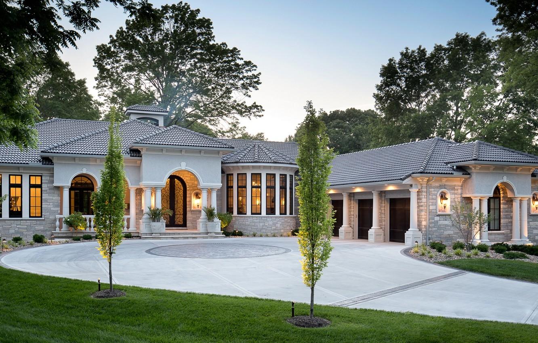 Photo wallpaper design, house, Villa, mansion, architeccture