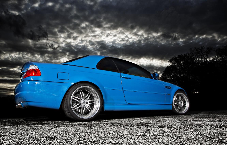 Photo wallpaper clouds, blue, BMW, BMW, blue, E46