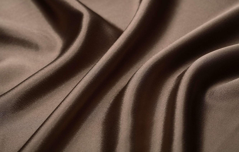 Коричневый шелк платье ткань барби с гипюром