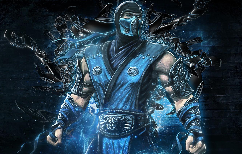 Photo wallpaper video game, mortal kombat, Sub Zero