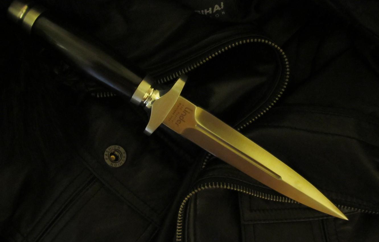 Photo wallpaper steel, jacket, button, dagger, pocket, Eben