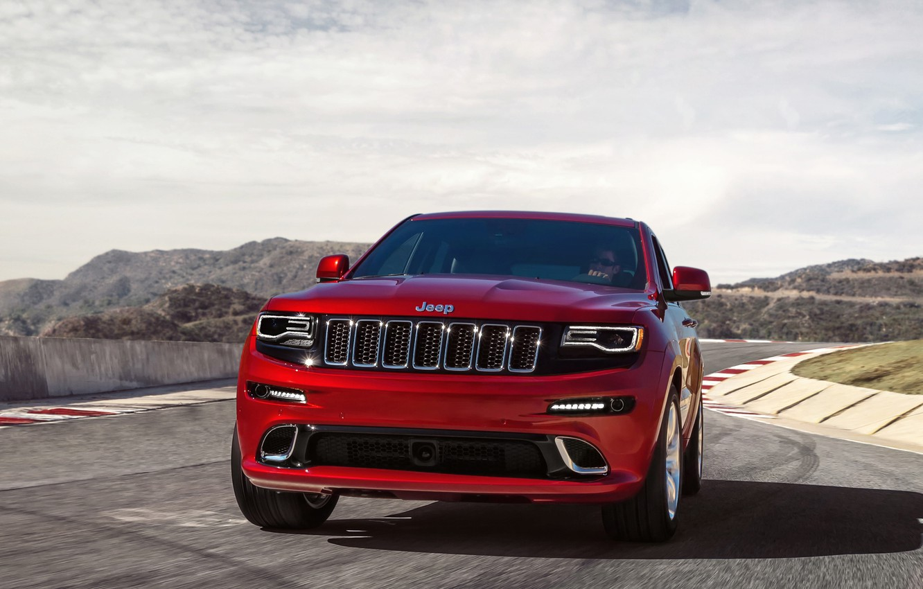 Photo wallpaper machine, the sky, the front, front, SRT, Jeep, Grand Cherokee